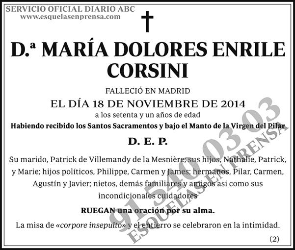 María Dolores Enrile Corsini